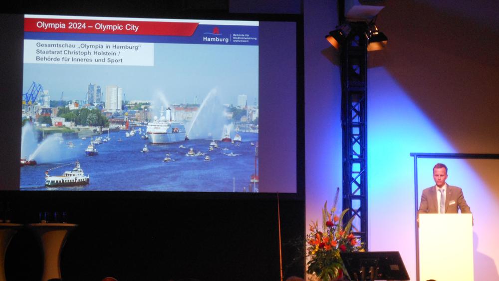 """Das Projekt """"Olympic City"""" wurde gestern in der Magnus Hall präsentiert"""