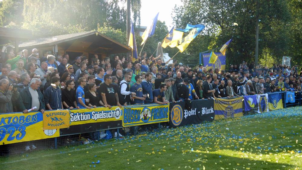 Mit der Unterstützung der Fans wird das Spiel in Norderstedt für BU zu einem Heimspiel