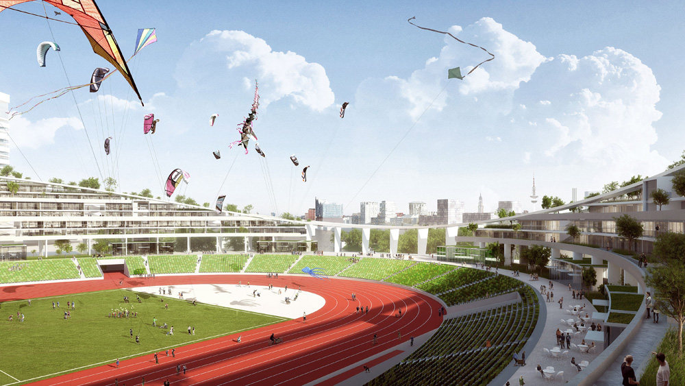 So soll das Olympiastadion nach den Olympischen Spielen aussehen. Bild (c): gmp | bloomimages