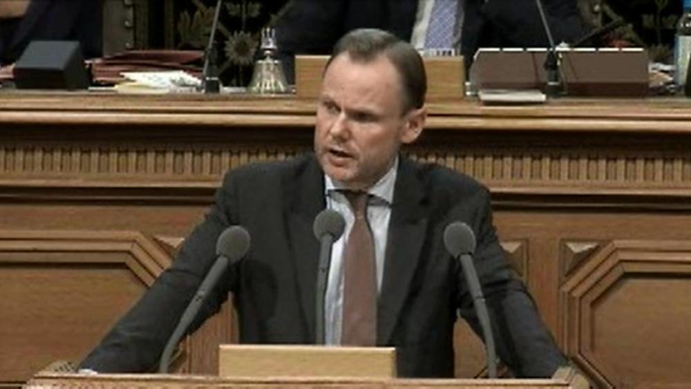 Andy Grote in der Aktuellen Stunde. Bild: Screenshot Bürgerschafts-Livestream.