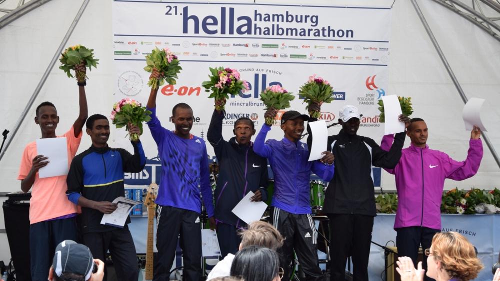 hella Halbmarathon: Siegerehrung im Vorjahr