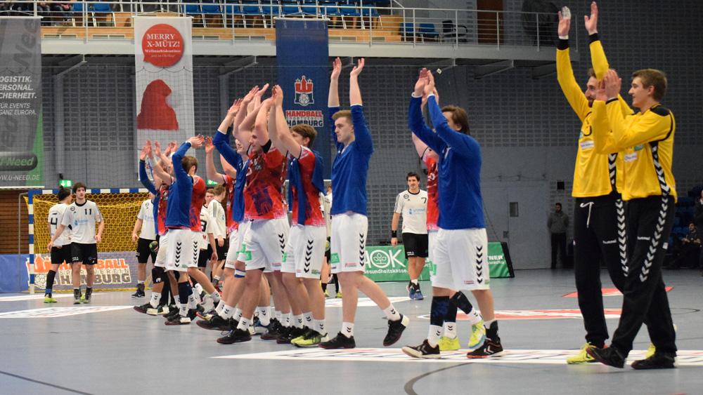 Der HSV feiert den Sieg